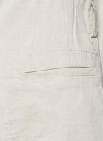 'Skea' tie waist linen blend long vest