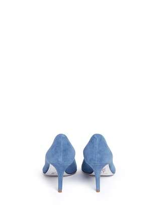 Back View - Click To Enlarge - René Caovilla - 'Decollete' denim effect suede pumps