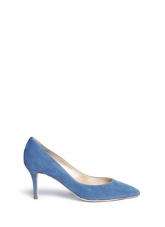 René Caovilla 'Decollete' denim effect suede pumps