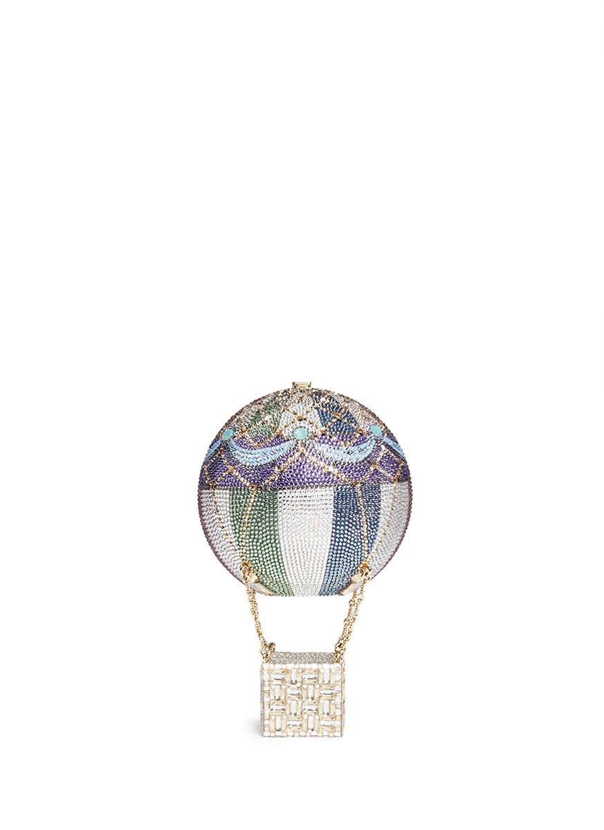 Hot Air Balloon crystal pavé minaudière by Judith Leiber