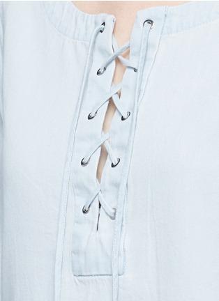 rag & bone/JEAN-Washed denim lace-up top