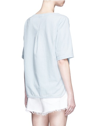 Back View - Click To Enlarge - rag & bone/JEAN - Washed denim lace-up top
