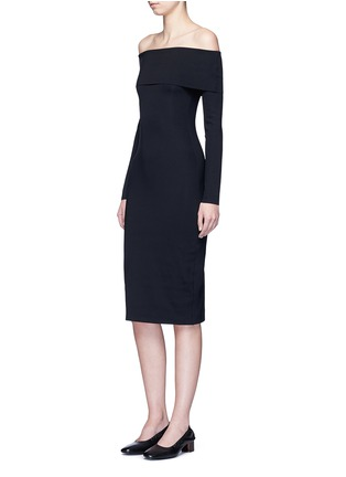Figure View - Click To Enlarge - The Row - 'Nania' scuba jersey off-shoulder dress