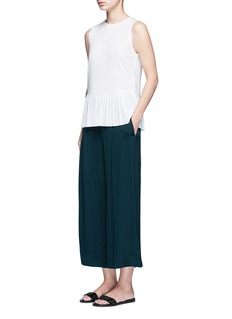 Theory'Zavabell' cropped relaxed silk pants