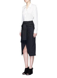 C/Meo Collective  'I'm In It' mock wrap front sash waist skirt