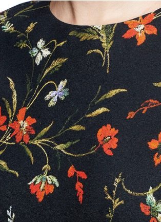 Detail View - Click To Enlarge - Balenciaga - Cutout hem floral print dress