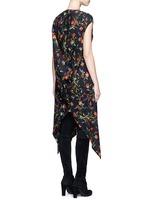Cutout hem floral print dress