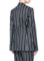Stripe wool suiting blazer