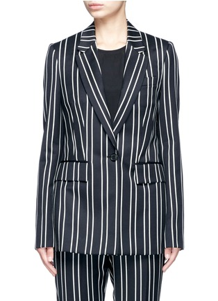 Main View - Click To Enlarge - Givenchy - Stripe wool suiting blazer