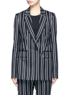 GivenchyStripe wool suiting blazer