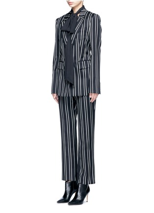 Figure View - Click To Enlarge - Givenchy - Stripe wool suiting blazer
