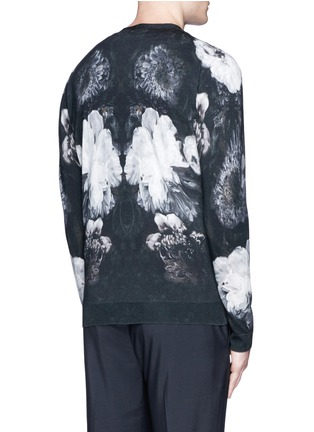 Back View - Click To Enlarge - Alexander McQueen - Floral print wool-silk cardigan