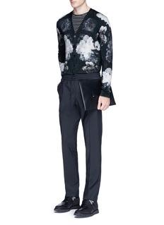 Alexander McQueenFloral print wool-silk cardigan