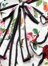 Detail View - Click To Enlarge - Gucci - Rose and bee print ruffle poplin dress