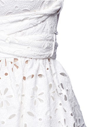 Detail View - Click To Enlarge - Zimmermann - 'Roza' open back broderie anglaise lace bib top