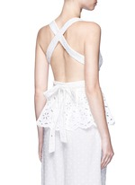 'Roza' open back broderie anglaise lace bib top