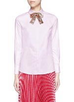 Sequin bow Oxford shirt