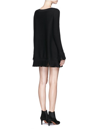 Back View - Click To Enlarge - Alaïa - 'Sparte' fringe knit dress