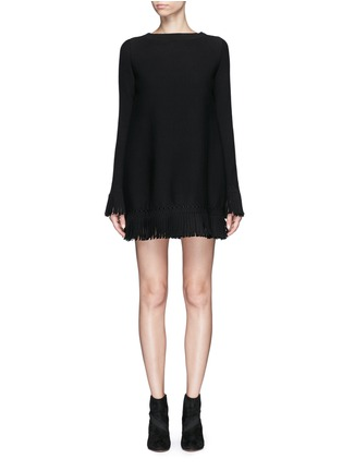 Main View - Click To Enlarge - Alaïa - 'Sparte' fringe knit dress