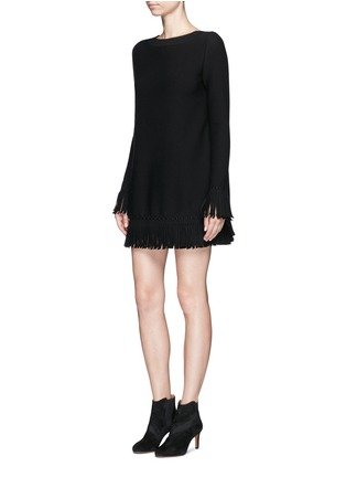 Figure View - Click To Enlarge - Alaïa - 'Sparte' fringe knit dress