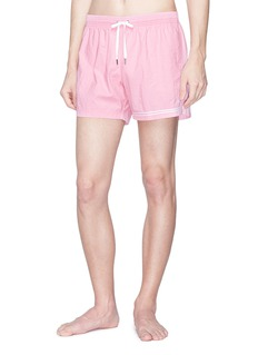 DANWARD 'Elba' stripe cuff swim shorts