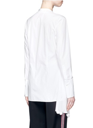 Back View - Click To Enlarge - Ports 1961 - Asymmetric layered pompom apron cotton poplin shirt