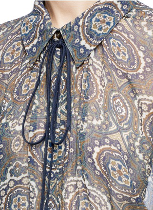 Detail View - Click To Enlarge - Chloé - Oriental print silk crépon blouse
