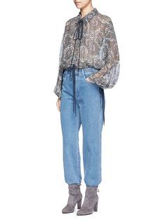 CHLOÉOriental print silk crépon blouse