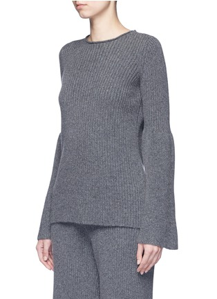 Front View - Click To Enlarge - The Row - 'Atilia' flare sleeve cashmere rib sweater