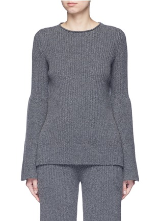 Main View - Click To Enlarge - The Row - 'Atilia' flare sleeve cashmere rib sweater