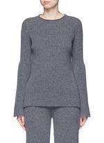 'Atilia' flare sleeve cashmere rib sweater