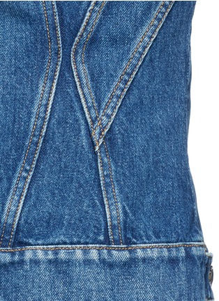 Detail View - Click To Enlarge - Alexander McQueen - Medium vintage wash denim bomber jacket