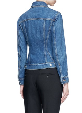 Alexander McQueen - Medium vintage wash denim bomber jacket