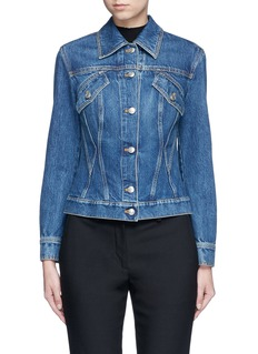 Alexander McQueen Medium vintage wash denim bomber jacket