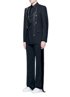 Alexander McQueenChain link pin wool blazer