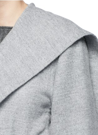 Detail View - Click To Enlarge - The Row - 'Draley' cape collar alpaca-virgin wool jacket
