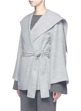 Front View - Click To Enlarge - The Row - 'Draley' cape collar alpaca-virgin wool jacket