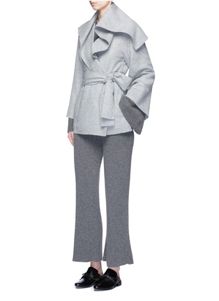 Figure View - Click To Enlarge - The Row - 'Draley' cape collar alpaca-virgin wool jacket