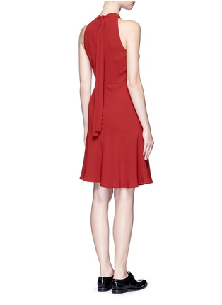 Theory - 'Cosgrove' tie neck crepe skater dress
