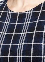 'Kalora' plaid knit peplum top