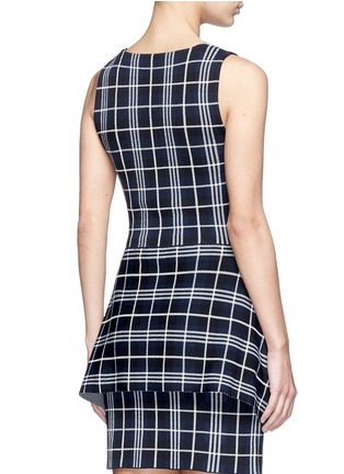Back View - Click To Enlarge - Theory - 'Kalora' plaid knit peplum top