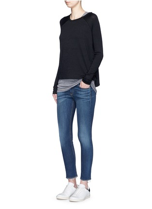 Figure View - Click To Enlarge - rag & bone/JEAN - 'Capri' cropped skinny jeans