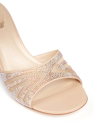Detail View - Click To Enlarge - René Caovilla - Winged mesh cutout strass sandals