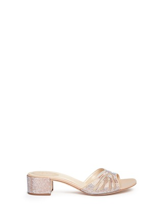 Main View - Click To Enlarge - René Caovilla - Winged mesh cutout strass sandals
