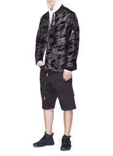 Stone Island Abstract print padded Lucid Flock bomber jacket