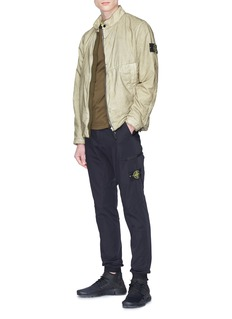 Stone Island Stand collar Resin Poplin- TC jacket