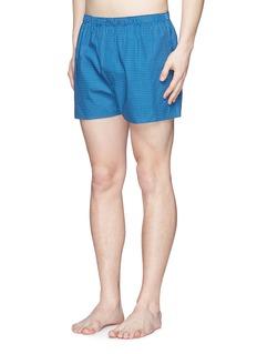 SunspelHoneycomb print boxer shorts