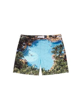 Main View - Click To Enlarge - Orlebar Brown - Bulldog On The Pool' photo print swim shorts
