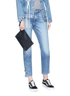 Proenza Schouler Diagonal zip leather pouch