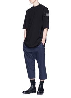 Rick Owens DRKSHDW Slogan appliqué reversed seam oversized T-shirt